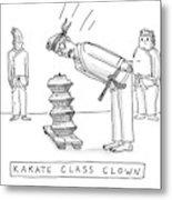 Karate Class Clown Metal Print