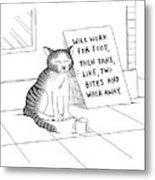 New Yorker September 22nd, 2008 Metal Print