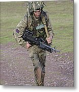 Welsh Guards Training Metal Print