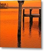 12001 Weeks Bay Pelicans Metal Print