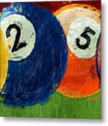 1258 Billiards Metal Print