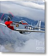 A P-51d Mustang In Flight Metal Print