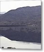 Beauty Of A Loch And Hills In The Scottish Highlands Metal Print