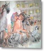 Italian Il Palio Horse Race Album Metal Print