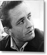 Johnny Cash Metal Print
