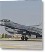 Turkish Air Force F-16 During Exercise Metal Print