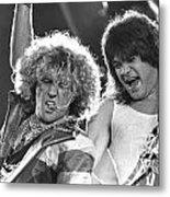 Van Halen - Sammy Hagar With Eddie Van Halen Metal Print