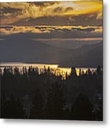 131127a-18 Sandpoint Winter Sunrise Metal Print