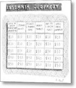 Insomnia Jeopardy Metal Print