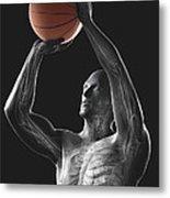 Basketball Shot Metal Print
