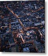 Belfast At Night, Northern Ireland Metal Print
