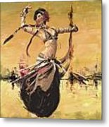 Abstract Belly Dancer 14 Metal Print
