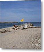 Fishing At Sebastian Inlet In Florida Metal Print