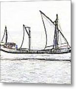 Fishing Vessel In The Arabian Sea Metal Print