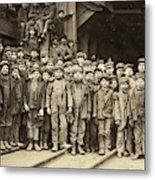 Hine Child Labor, 1911 Metal Print