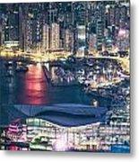 Hong Kong At Night Metal Print