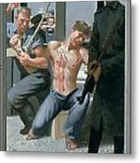 14. Jesus Is Nailed To The Cross / From The Passion Of Christ - A Gay Vision Metal Print