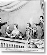Lincoln Assassination Metal Print