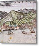 Ortelius, Abraham 1527-1598 Braun Metal Print