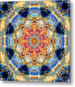 Rainbow Light Mandala Metal Print