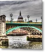 Southwark Bridge London Metal Print