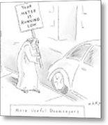 New Yorker February 11th, 2008 Metal Print