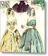 Women's Fashion, 1842 Metal Print