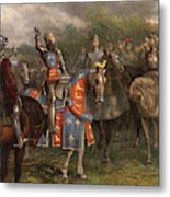 1400s Henry V Of England Speaking Metal Print