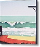 14th Street Huntington Beach Metal Print