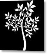 Art Tree Silhouette Metal Print