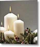 Advent Wreath Metal Print