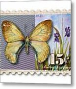 15 Cent Butterfly Stamp Metal Print