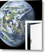 Door To New World Metal Print