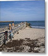 Fishing At Sebastian Inlet In Florida Metal Print