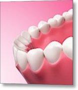 Human Teeth Metal Print