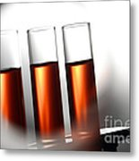 Laboratory Test Tubes In Science Research Lab Metal Print
