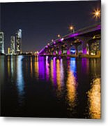 Miami Downtown Skyline Metal Print
