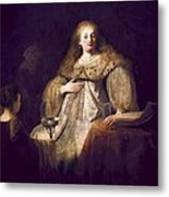 Rembrandt, Harmenszoon Van Rijn, Called Metal Print by Everett