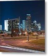 Skyline Of Uptown Charlotte North Carolina At Night. Metal Print