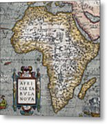 1584 Map Of Mysterious Africa Metal Print