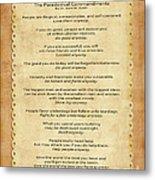 159- The Paradoxical Commandments Metal Print