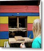 A Backyard Chicken Coop In Austin Metal Print