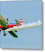 Action In The Sky During An Airshow Metal Print