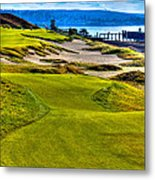 #16 At Chambers Bay Golf Course - Location Of The 2015 U.s. Open Championship Metal Print by David Patterson