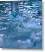 Australia - Deep Blue White Water Colour Metal Print