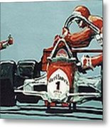Automobile Racing Metal Print