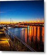 Bridge Of Lions St Augustine Florida Painted  Metal Print