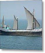 Fishing Vessel In The Arabian Sea Metal Print