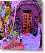 Malibu Cottage Metal Print