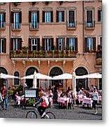 Piazza Navona In Rome Metal Print